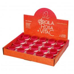 GEL FACIAL ARGILA ROSA BOX COM 19 PÇS - BELLE ANGEL