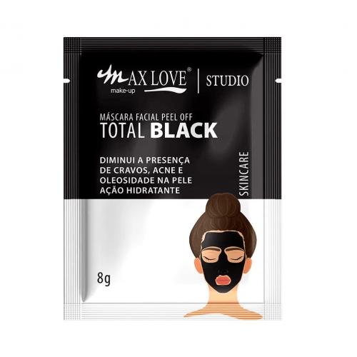 MÁSCARA FACIAL PEEL OFF TOTAL BLACK - MAX LOVE