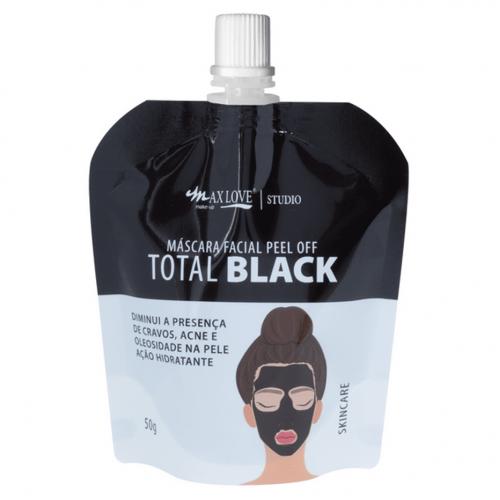 MASCARA FACIAL PEEL OFF TOTAL BLACK - POUCHE - MAX LOVE