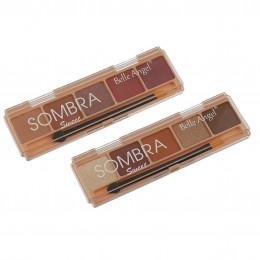 PALETA DE SOMBRA SWEET - 5 CORES - BOX COM 24 PEÇAS - BELLE ANGEL