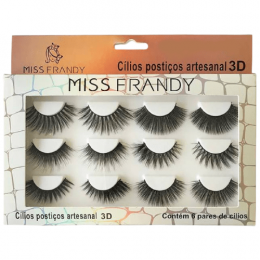 CÍLIOS POSTIÇO 3D VARIADOS - 6 PARES - MISS FRANDY